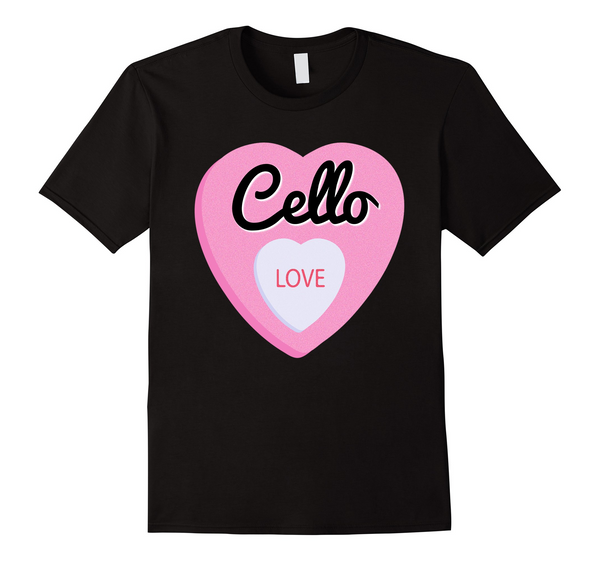 Cello Player Valentine's Day T-Shirt