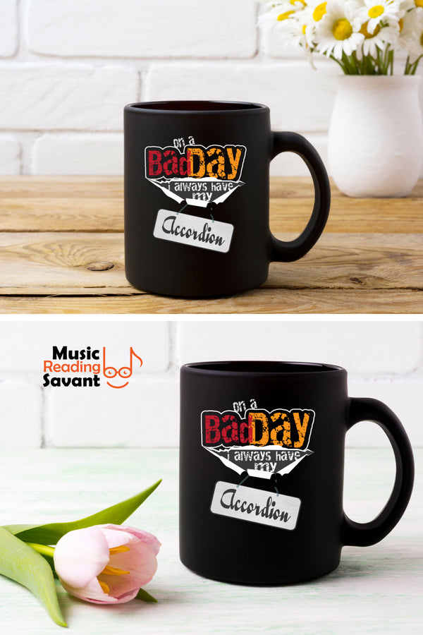 Accordion Bad Day Coffee Mug Black