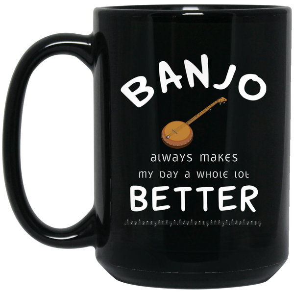 Banjo Player Music Instrument Coffee Mug Black