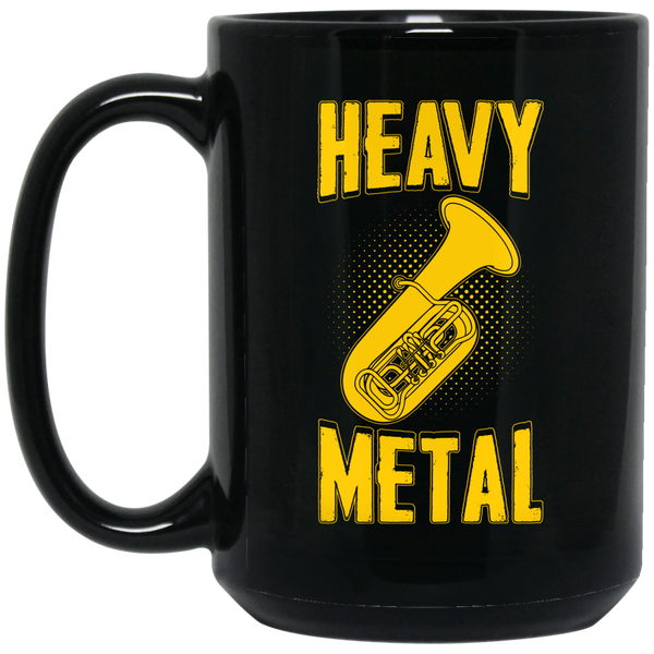 Heavy Metal Tuba Coffee Mug Black
