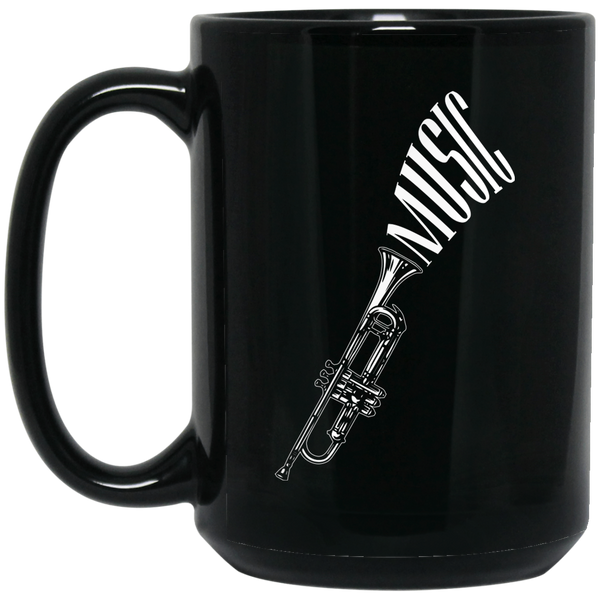 Trumpet Music Coffee Mug Black