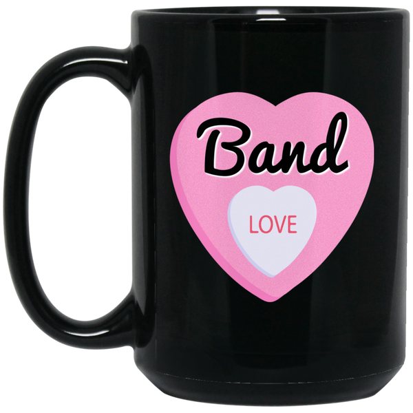 Band Love Valentine's Day Hearts Coffee Mug Black