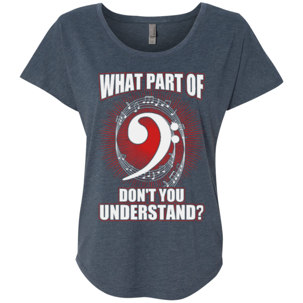 What Part Of (Bass Clef) Don't You Understand Ladies Dolman Sleeve Shirt - Music Reading Savant Store
