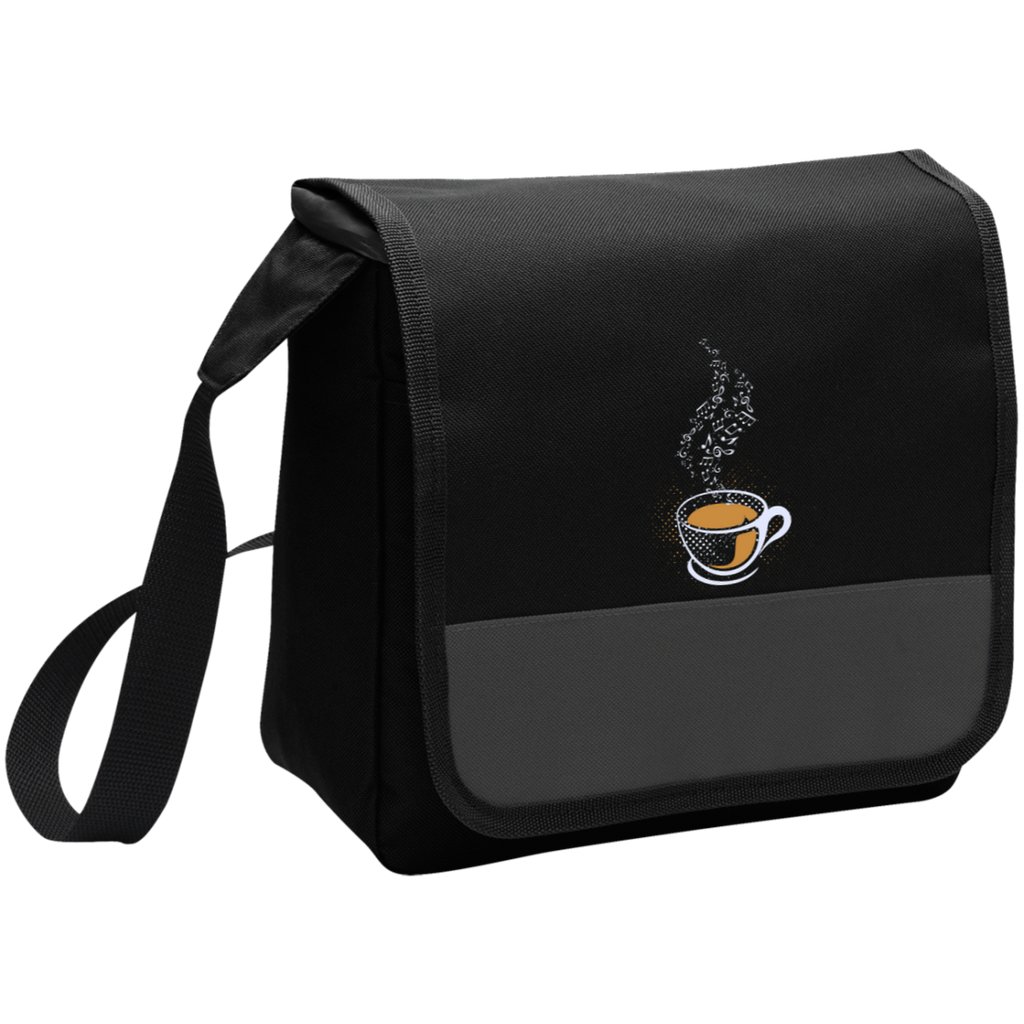 Coffee Art Music Notes Lunch Bag Black