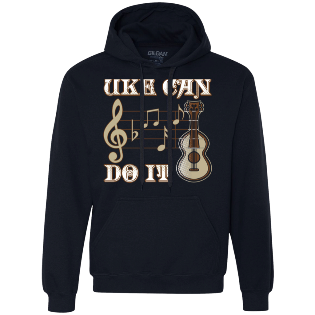 Uke Can Do It Ukulele Heavyweight Pullover Fleece Sweatshirt