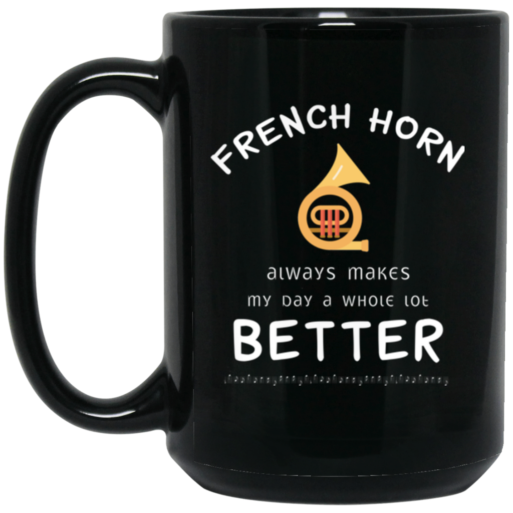 French Horn Player Music Instrument Coffee Mug Black