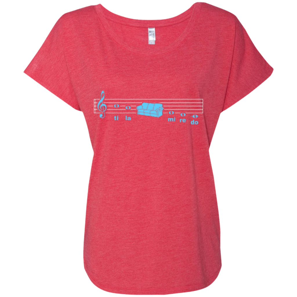 Sofa Solfege Music Ladies Dolman Sleeve Shirt - Music Reading Savant Store