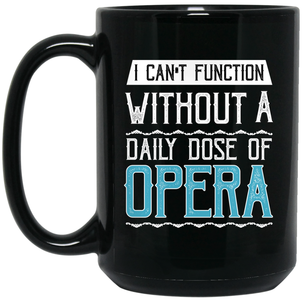 Funny Opera Music Coffee Mug Black