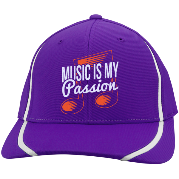 Music Is My Passion Embroidered Flexfit Hat - Music Reading Savant Store