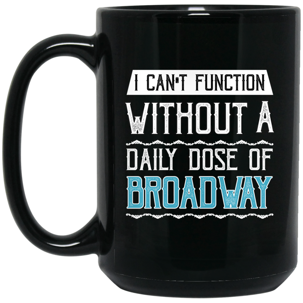 Funny Broadway Music Coffee Mug Black