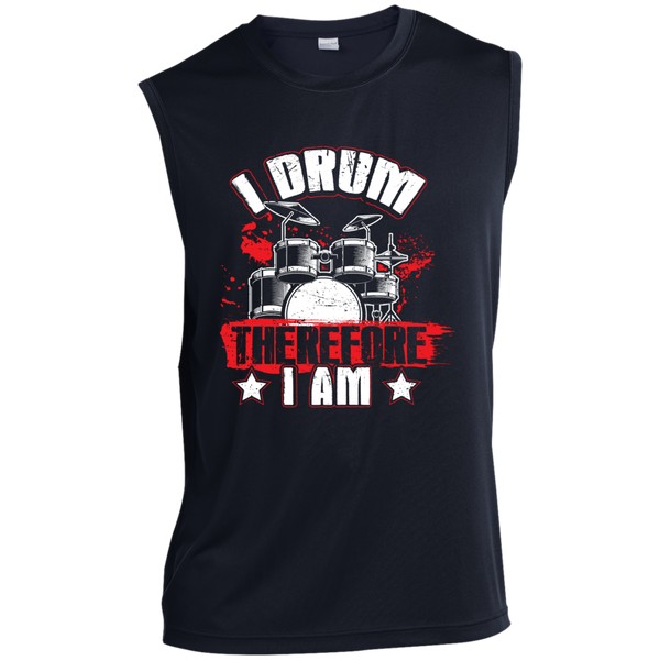 I DRUM Therefore I Am Drummers Shirt Pick Size SM 6XL /& Color