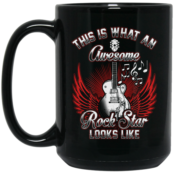 This Is What An Awesome Rock Star Looks Like Coffee Mug Black