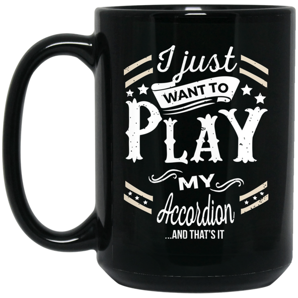 Accordion Musical Instruments Coffee Mug Black