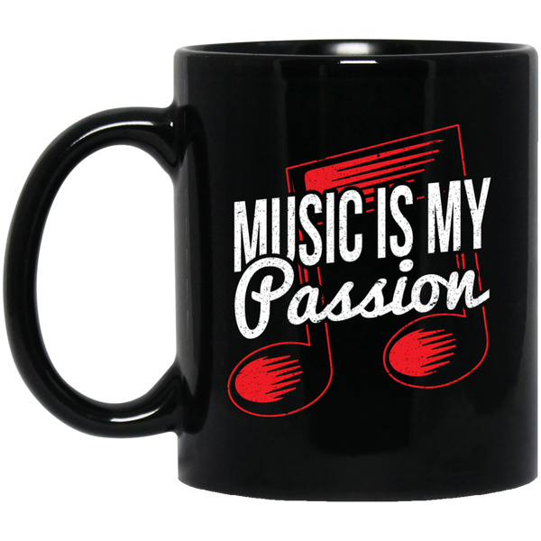 Music Is My Passion Coffee Mug Black