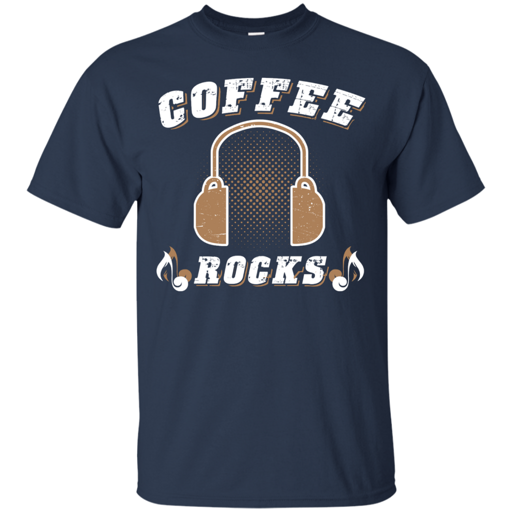 Coffee Rocks Java Lover Unisex T-Shirt Navy