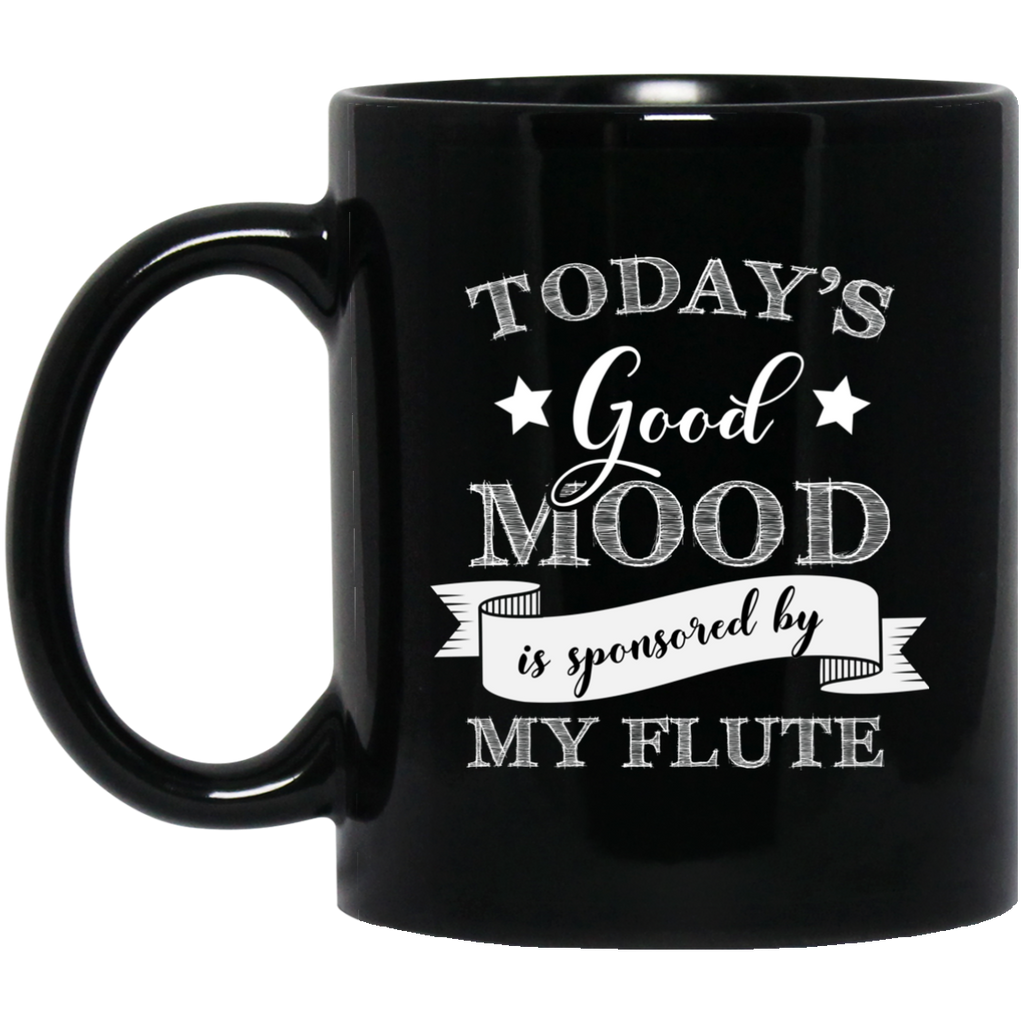 Today's Good Mood is Sponsored by My Flute Coffee Mug Black