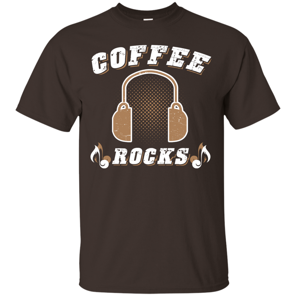 Coffee Rocks Java Lover Unisex T-Shirt Dark Chocolate