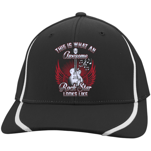 This Is What An Awesome Rock Star Looks Like Embroidered Flexfit Hat - Music Reading Savant Store