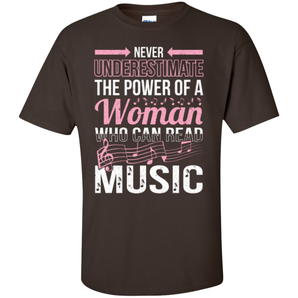 Never Underestimate The Power Of A Woman Who Can Read Music T-Shirt - Music Reading Savant Store