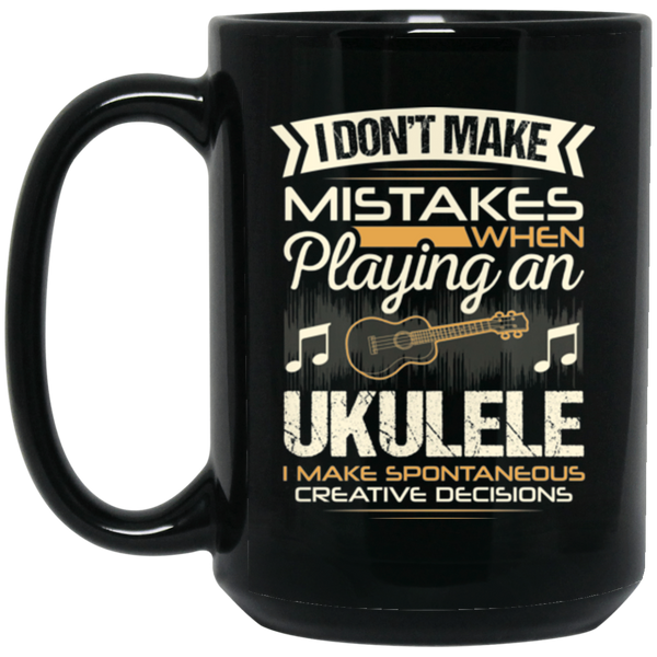 A ukulele coffee mug for uke players that don't make mistakes. LOVE giving unique music gifts like this. | Music Gifts For Musicians | Unique Coffee Mugs #MusicGifts #Mugs