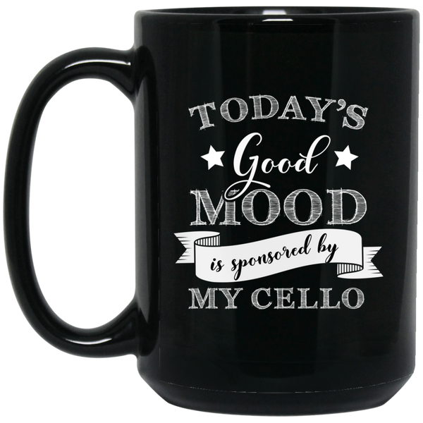 Today's Good Mood is Sponsored by My Cello Coffee Mug Black