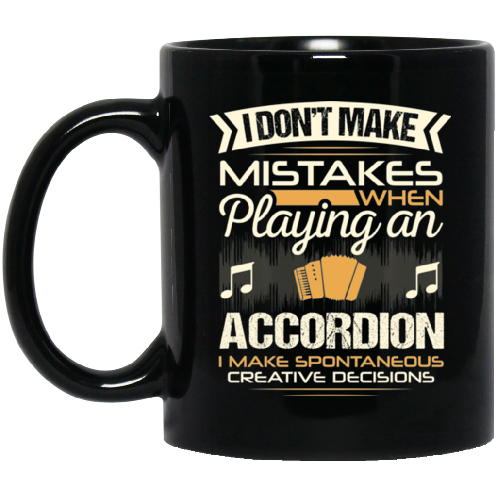 An accordion coffee mug for squeezebox players that don't make mistakes. LOVE giving unique music gifts like this. | Music Gifts For Musicians | Unique Coffee Mugs #MusicGifts #Mugs