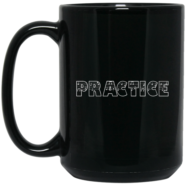 Practice (Music Notes) Coffee Mug Black