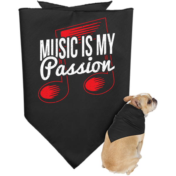 Music Is My Passion Dog Bandana - Music Reading Savant Store