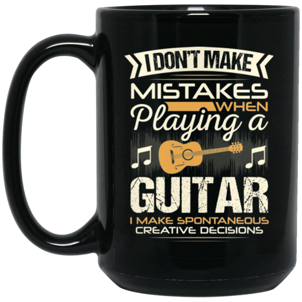 A coffee mug for guitar players that don't make mistakes. I enjoy giving unique music gifts like this. | Music Gifts For Musicians | Unique Coffee Mugs #MusicGifts #Mugs