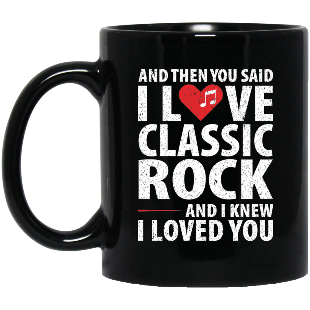Love Classic Rock Music Coffee Mug Black