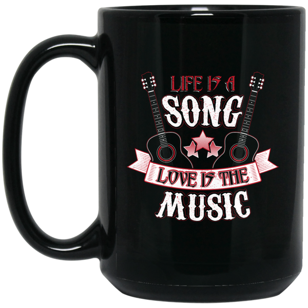 Life Love Music Coffee Mug Black