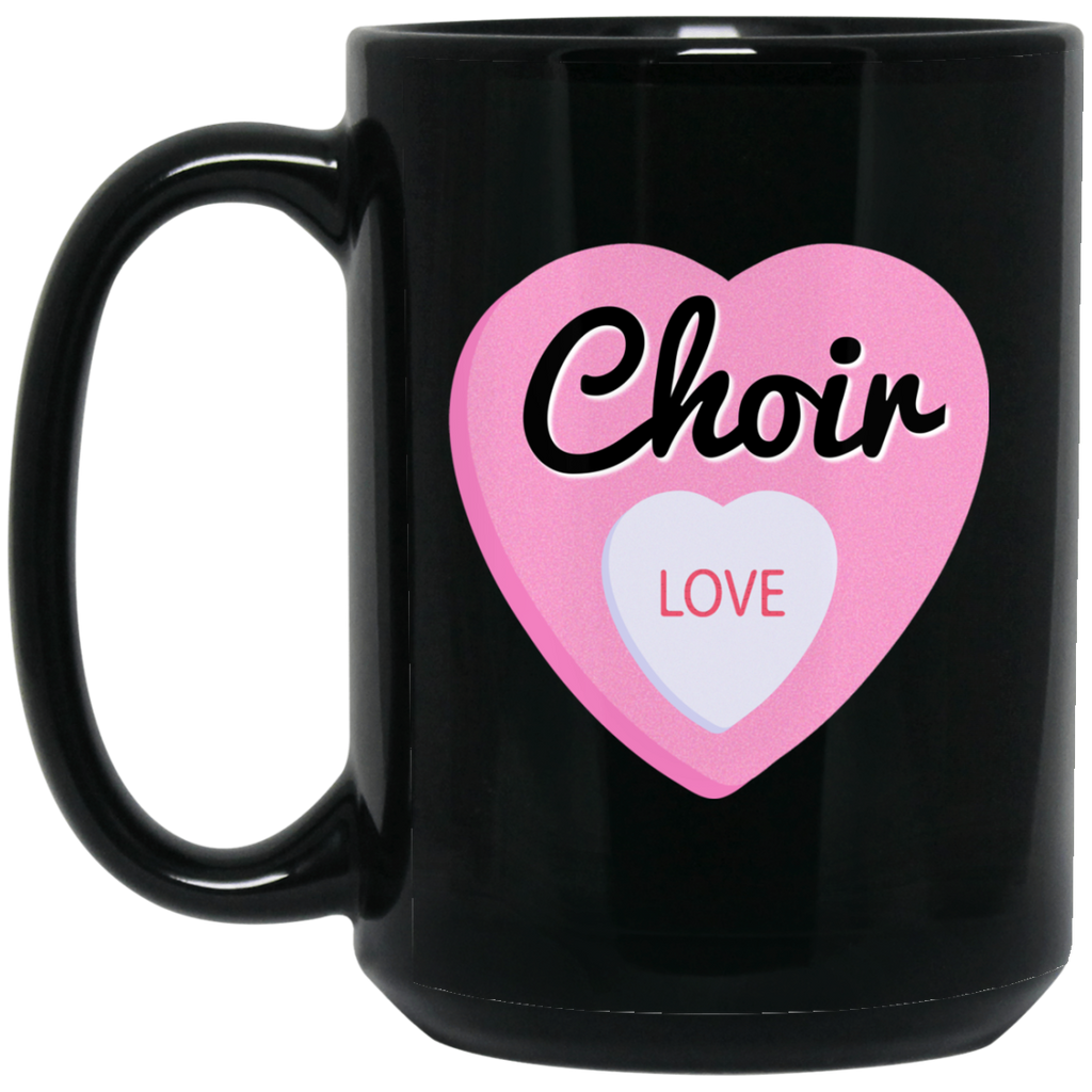 Choir Love Valentine's Day Hearts Coffee Mug Black