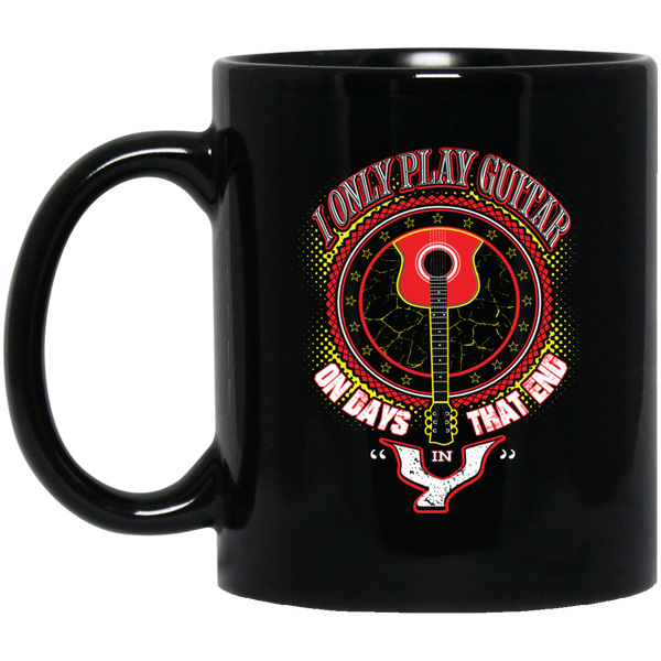 Only Play Guitar Coffee Mug Black