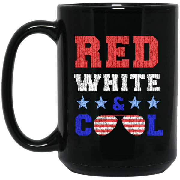 Red White Cool A Coffee Mug Black