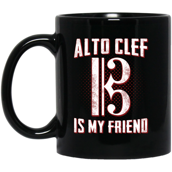 Alto Clef Is My Friend Coffee Mug Black