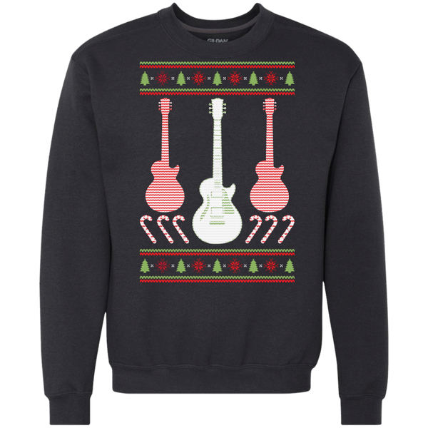 Electric Guitar Ugly Christmas Sweater Heavyweight Crewneck Sweatshirt
