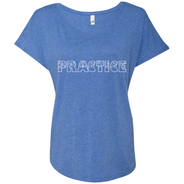 Practice Ladies Dolman Sleeve Shirt - Music Reading Savant Store