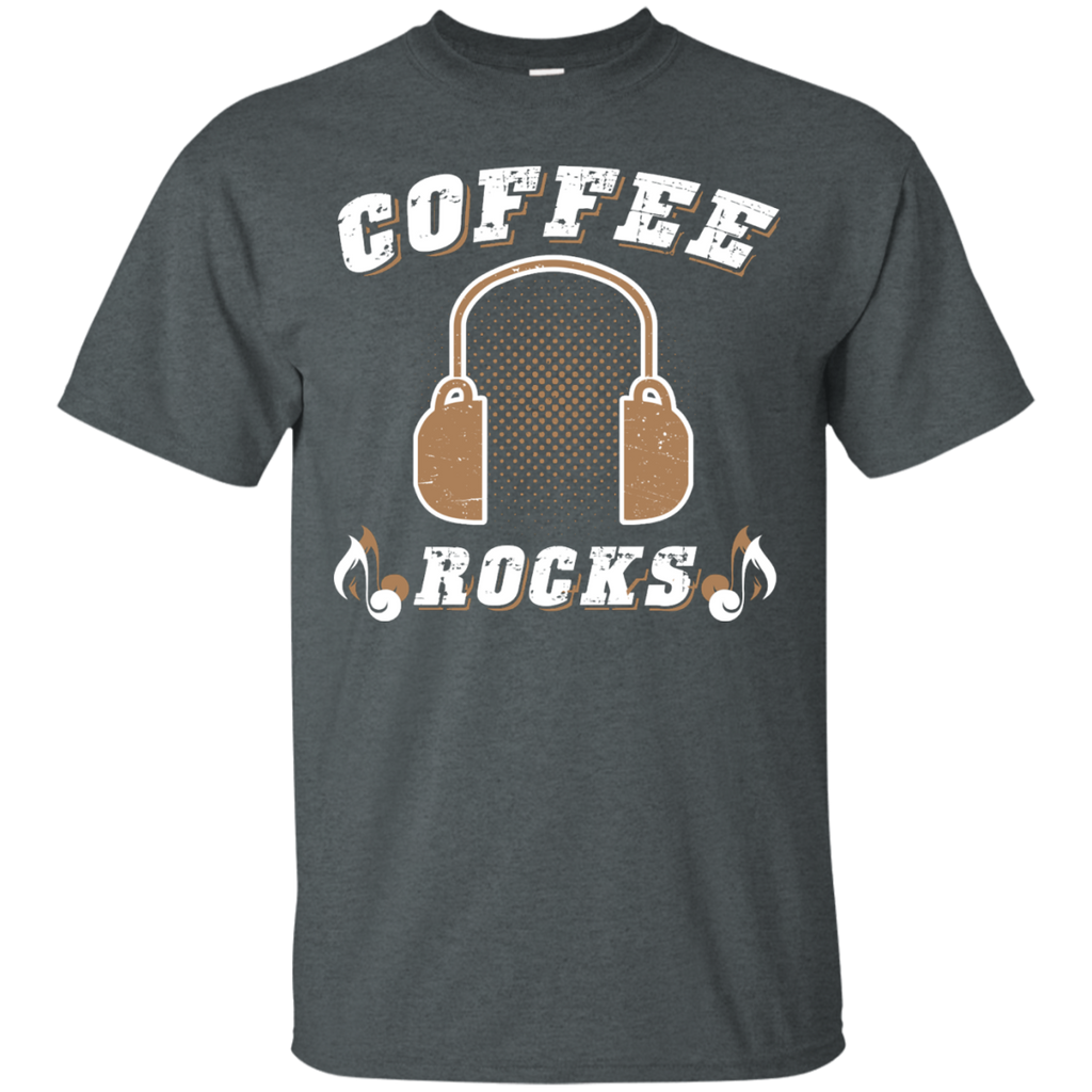 Coffee Rocks Java Lover Unisex T-Shirt Dark Heather