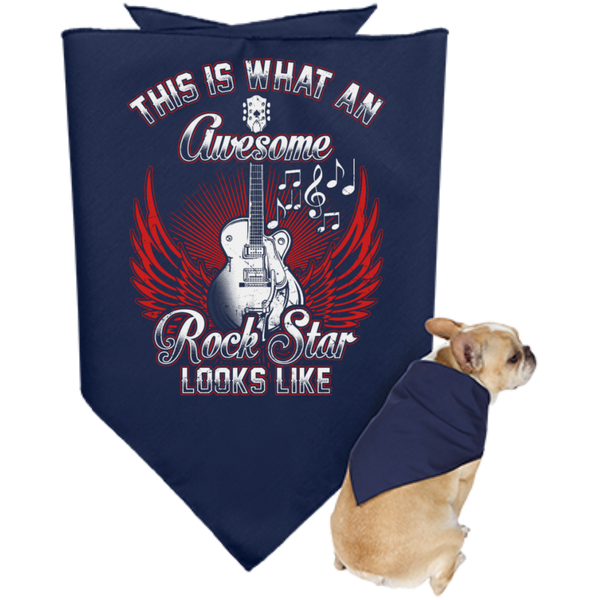 This Is What An Awesome Rock Star Looks Like Dog Bandana - Music Reading Savant Store