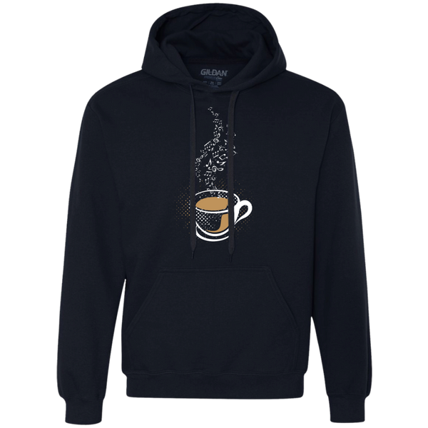 Hot Coffee Music Notes Heavyweight Pullover Fleece Sweatshirt