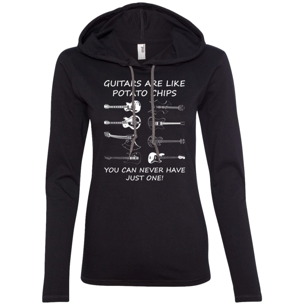 Guitars Are Like Potato Chips Ladies Long Sleeve T-Shirt Hoodie