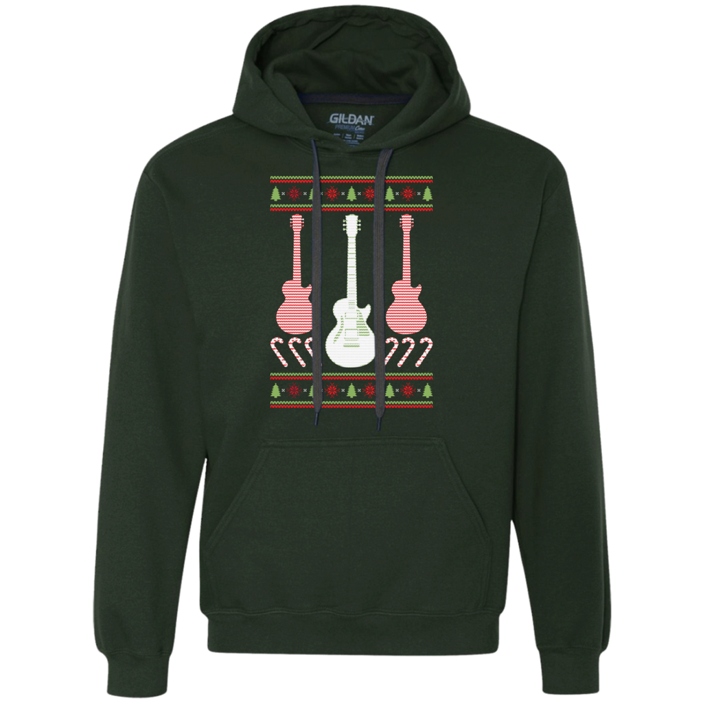 Electric Guitar Ugly Christmas Sweater Heavyweight Pullover Fleece Sweatshirt