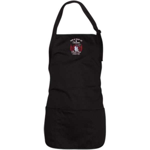 This Is What An Awesome Rock Star Looks Like Embroidered Medium Length Apron - Music Reading Savant Store