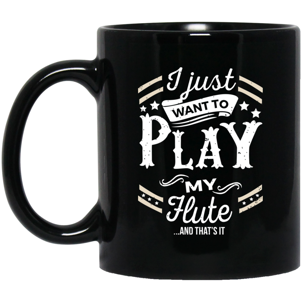 Flute Musical Instruments Coffee Mug Black