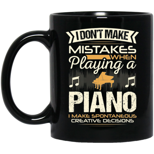 A coffee mug for piano players that don't make mistakes. I enjoy giving unique music gifts like this. | Music Gifts For Musicians | Unique Coffee Mugs #MusicGifts #Mugs
