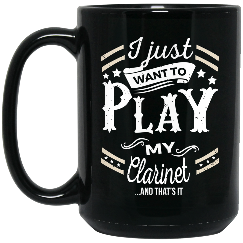 Clarinet Musical Instruments Coffee Mug Black