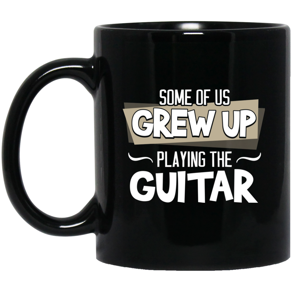 Guitar Coffee Mug Black
