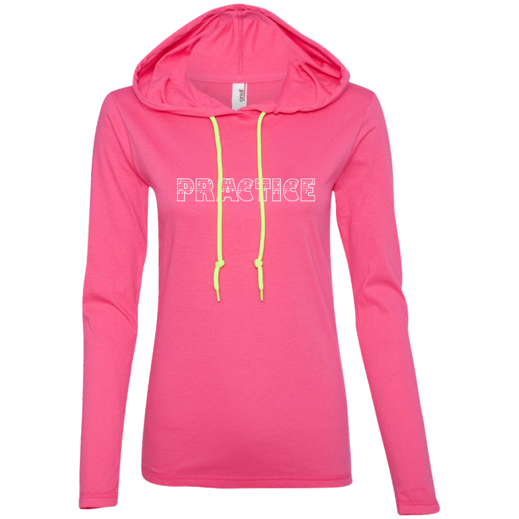 Practice Long Sleeve T-Shirt Hoodie for Women