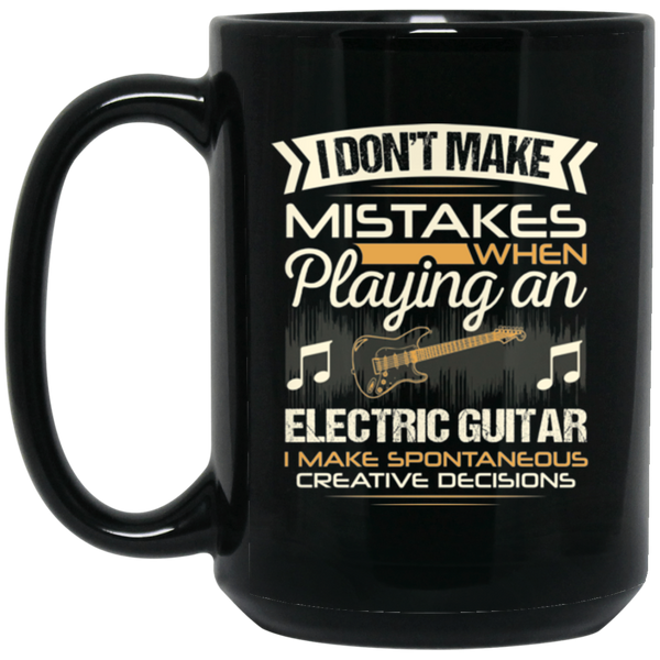 An electric guitar coffee mug for guitar players that don't make mistakes. LOVE giving unique music gifts like this. | Music Gifts For Musicians | Unique Coffee Mugs #MusicGifts #Mugs
