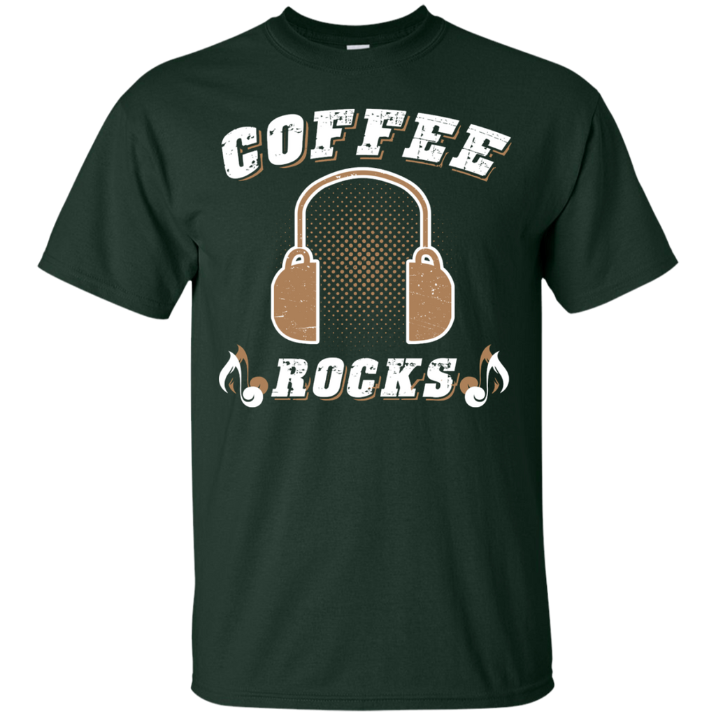 Coffee Rocks Java Lover Unisex T-Shirt Forest Green